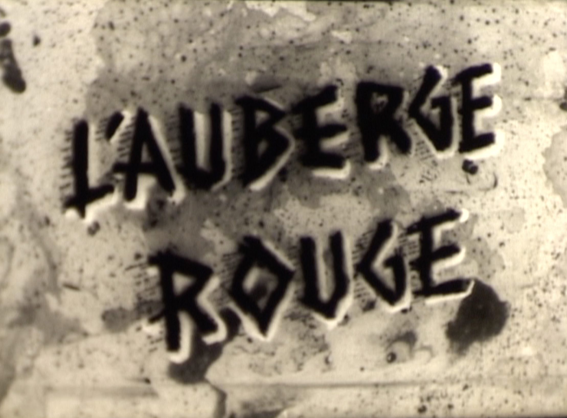 Sur le tournage de l'Auberge Rouge