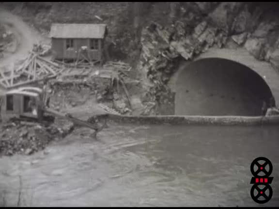 Sautage dérivation provisoire et mise en eau Aigueblanche (Isère Arc)