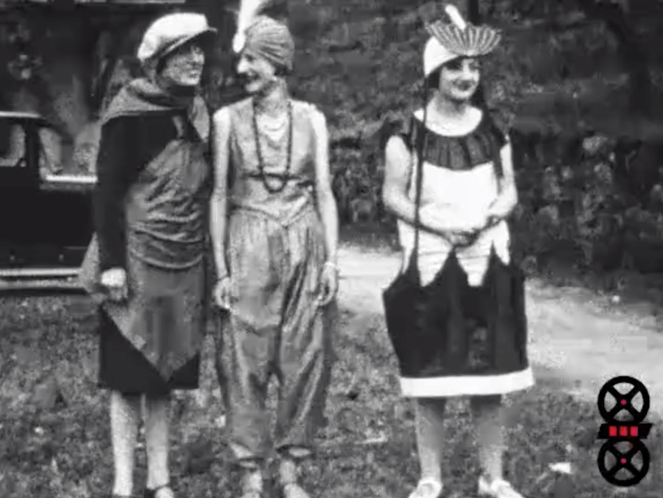 Bal costumé à la Chaumière (Fillinges),  juillet 1928