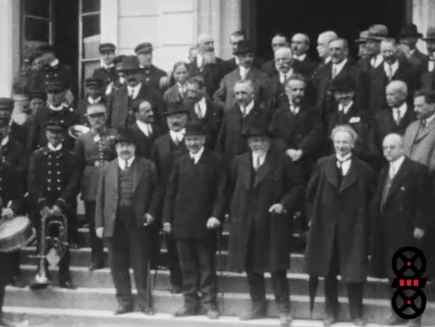 Thoiry, Fête en l'honneur du Sénateur Albert Fouilloux avec M. Painlevé Ministre, 21 avril 1929