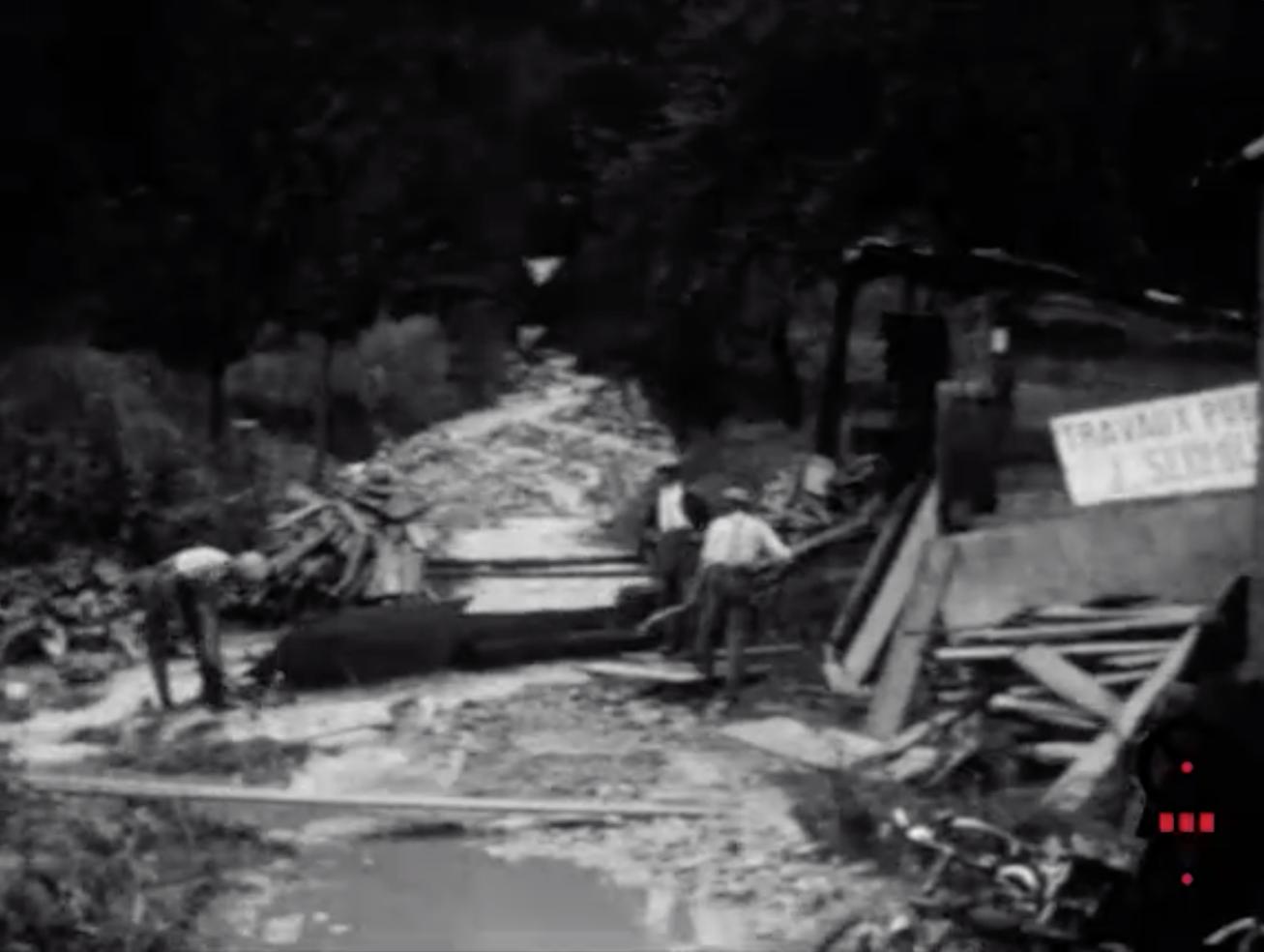 Inondations et dégâts après l'orage de 5 août 1930
